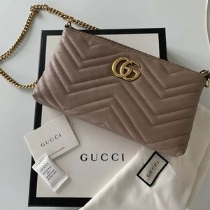 Gucci Marmont Chain Bag Nude With Dust Bag & Box